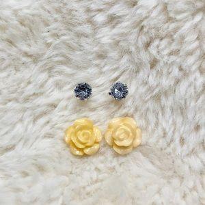 NWOT Rose Earrings Bundle